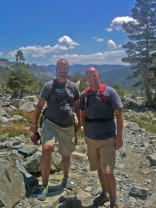 Clark and I on our way back from our 14 mile hike in Desolation Wilderness.